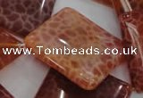 CAG647 15.5 inches 30*30mm rhombic natural fire agate beads