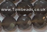 CAG6540 15.5 inches 18mm faceted round Brazilian grey agate beads