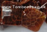 CAG657 15.5 inches 25*25mm faceted rhombic natural fire agate beads