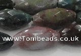 CAG6580 15.5 inches 11*25mm faceted rice Indian agate beads