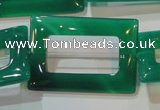 CAG6644 15.5 inches 25*35mm rectangle green agate gemstone beads