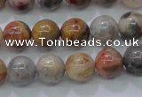 CAG6671 15.5 inches 6mm round natural crazy lace agate beads