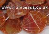 CAG683 15.5 inches 30*35mm freeform natural fire agate beads