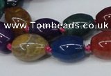 CAG6875 15.5 inches 12*16mm drum dragon veins agate beads
