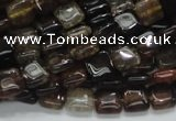 CAG692 15.5 inches 8*8mm square dragon veins agate beads wholesale