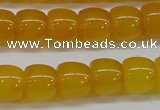 CAG7115 15.5 inches 10*12mm apple-shaped yellow agate gemstone beads