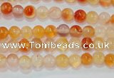 CAG7130 15.5 inches 4mm round red agate gemstone beads