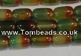 CAG7175 15.5 inches 8*12mm drum rainbow agate gemstone beads