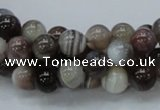 CAG736 15.5 inches 8mm round botswana agate beads wholesale