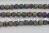 CAG7448 15.5 inches 4mm round plated druzy agate beads wholesale