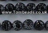 CAG7603 15.5 inches 10mm faceted round frosted agate beads wholesale