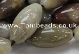 CAG775 15.5 inches 15*30mm rice yellow agate gemstone beads