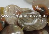 CAG778 15.5 inches 25mm flat round yellow agate gemstone beads