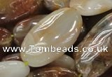 CAG783 15.5 inches 20*40mm oval yellow agate gemstone beads