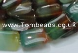 CAG791 15.5 inches 13*18mm rectangle rainbow agate gemstone beads