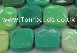 CAG7915 15.5 inches 18*18mm faceted square grass agate beads