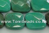 CAG7917 15.5 inches 25*25mm faceted square grass agate beads
