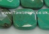 CAG7918 15.5 inches 30*30mm faceted square grass agate beads