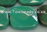 CAG7920 15.5 inches 40*40mm faceted square grass agate beads
