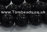 CAG8687 15.5 inches 10mm round matte tibetan agate gemstone beads