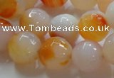 CAG869 15.5 inches 16mm faceted round agate gemstone beads