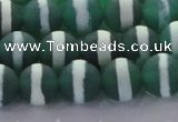 CAG8712 15.5 inches 10mm round matte tibetan agate gemstone beads