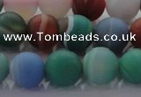 CAG8732 15.5 inches 10mm round matte madagascar agate beads