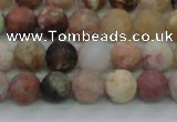 CAG8746 15.5 inches 6mm round matte rainbow agate beads