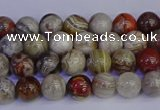 CAG9110 15.5 inches 4mm round Mexican crazy lace agate beads
