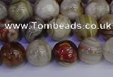 CAG9113 15.5 inches 10mm round Mexican crazy lace agate beads