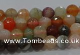 CAG9221 15.5 inches 6mm faceted round line agate beads wholesale