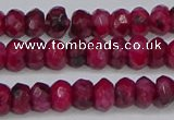 CAG9575 15.5 inches 4*6mm faceted rondelle crazy lace agate beads