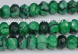 CAG9580 15.5 inches 4*6mm faceted rondelle crazy lace agate beads