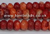 CAG9587 15.5 inches 5*8mm faceted rondelle crazy lace agate beads