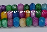 CAG9598 15.5 inches 5*8mm faceted rondelle crazy lace agate beads