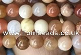 CAG9804 15.5 inches 4mm round wood agate beads wholesale