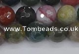 CAG9833 15.5 inches 10mm faceted round Indian agate beads