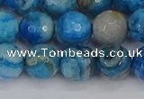 CAG9885 15.5 inches 10mm faceted round blue crazy lace agate beads