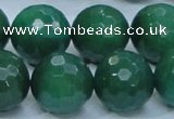 CAJ08 15.5 inches 20mm faceted round green aventurine jade beads