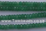 CAJ15 15.5 inches 4*6mm faceted rondelle green aventurine beads