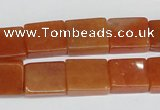 CAJ158 15.5 inches 12*15mm rectangle red aventurine jade beads