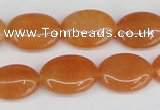 CAJ161 15.5 inches 13*18mm oval red aventurine jade beads