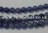 CAJ501 15.5 inches 6mm round blue aventurine beads wholesale