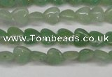 CAJ683 15.5 inches 8*8mm heart green aventurine beads