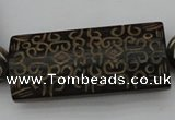 CAL09 14.5 inches 25*55mm carved rectangle agalmatolite beads