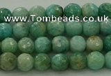 CAM1581 15.5 inches 6mm faceted round Russian amazonite beads