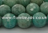 CAM1584 15.5 inches 12mm faceted round Russian amazonite beads