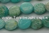 CAM1592 15.5 inches 10mm flat round Russian amazonite beads