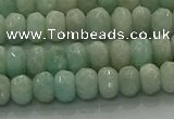 CAM1611 15.5 inches 4*6mm faceted rondelle peru amazonite beads