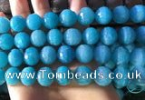 CAM1673 15.5 inches 13.5mm faceted round amazonite gemstone beads
